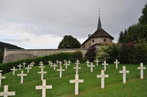 Der französischen Soldatenfriedhof Saint-Remy la Calonne